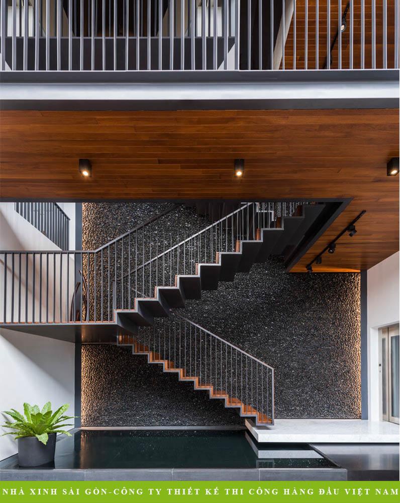 101 Mẫu cầu thang gỗ đẹp nhất hiện đại 2019