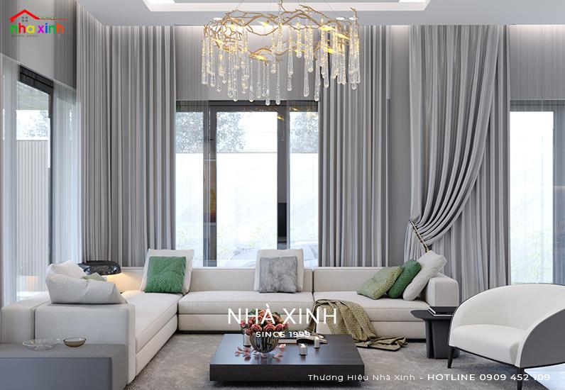 Thiết kế nội thất không gian phòng khách đẹp