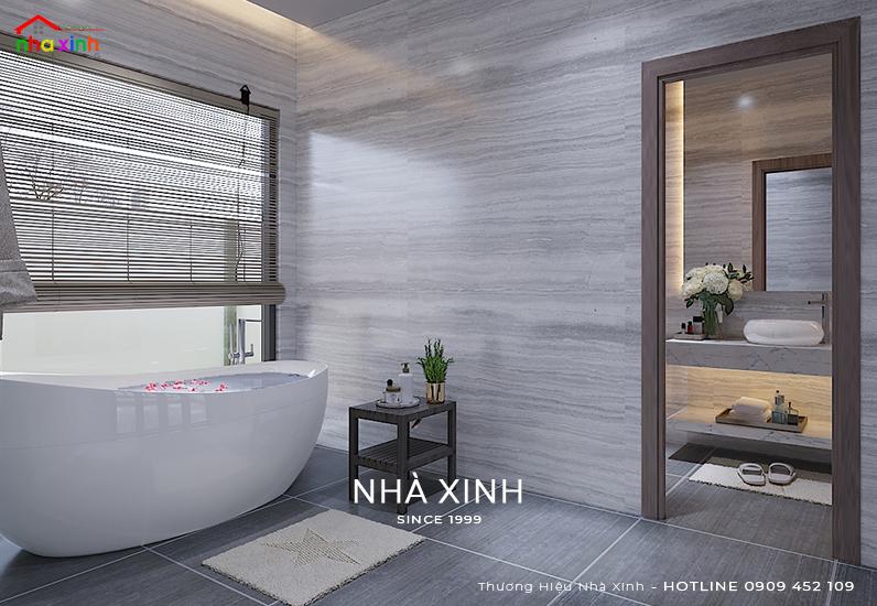 Mẫu phòng tắm đẹp của mẫu biệt thự hiện đại 1tầng