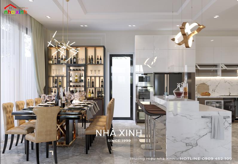 Mẫu thiết kế nội thất phòng bếp ăn ấn tượng của năm