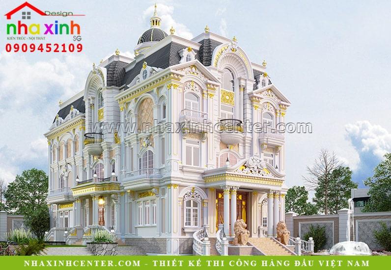 Mẫu biệt thự nhà vườn phong cách cổ điển