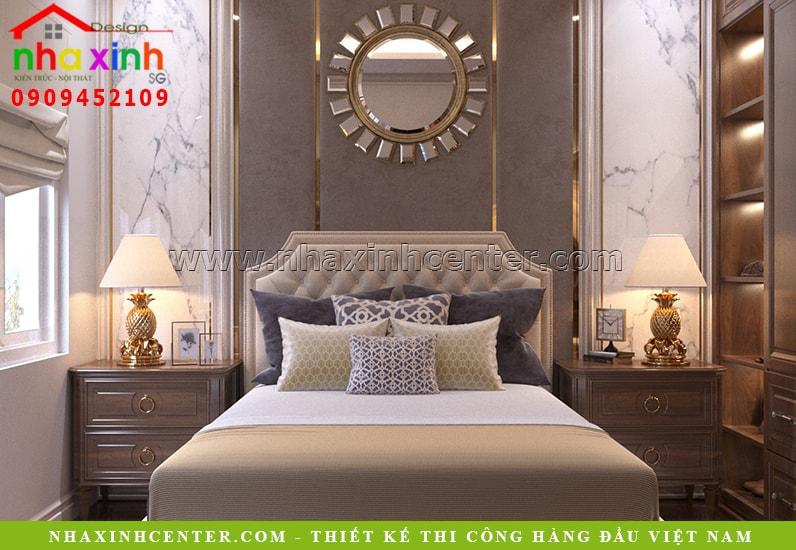 Mẫu thiết kế nội thất phòng ngủ tân cổ điển