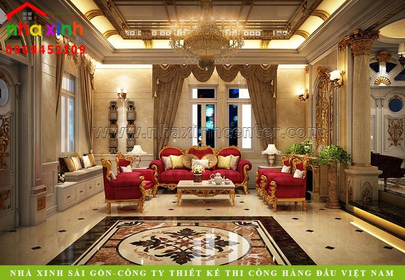 Mẫu thiết kế nội thất biệt thự kiểu Pháp