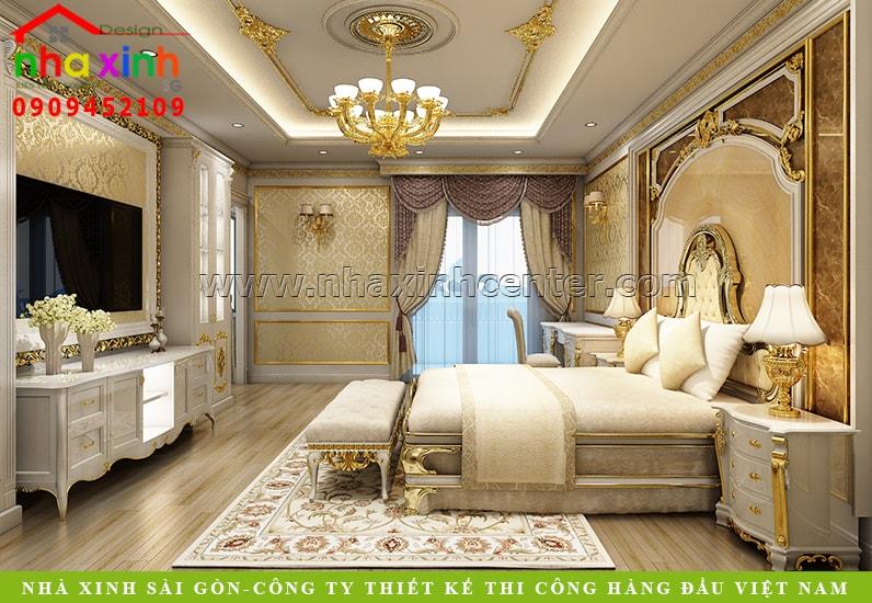 Thiết kế phòng ngủ phong cách cổ điển sang trọng