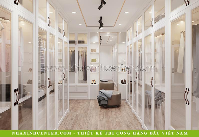 Phòng thay đồ có kiểu thiết kế như những showroom