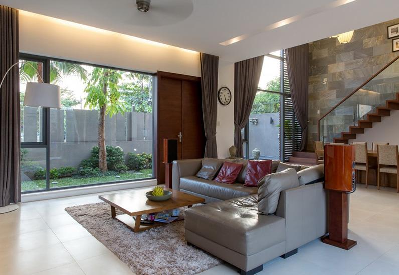 Phòng khách mẫu nội thất đẹp cho biệt thự