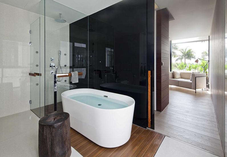 Không gian phòng tắm nội thất biệt thự đẹp 100m2