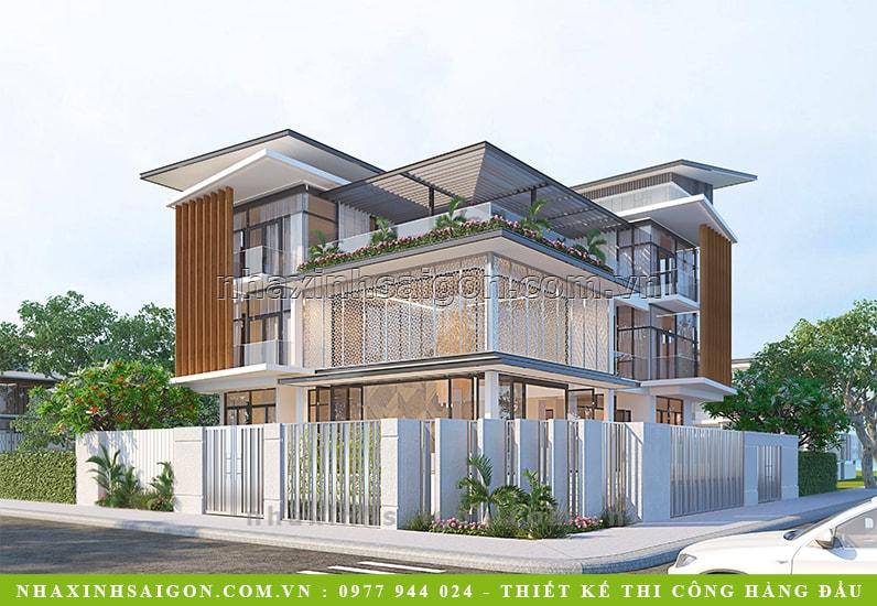 mẫu thiết kế biệt thự 3 tầng đẹp