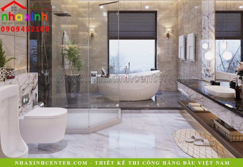 Thiết kế mẫu phòng tắm phong cách hiện đại
