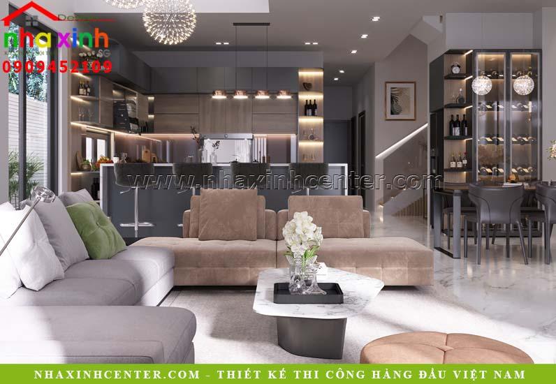 Mẫu thiết kế nội thất phòng khách đẹp