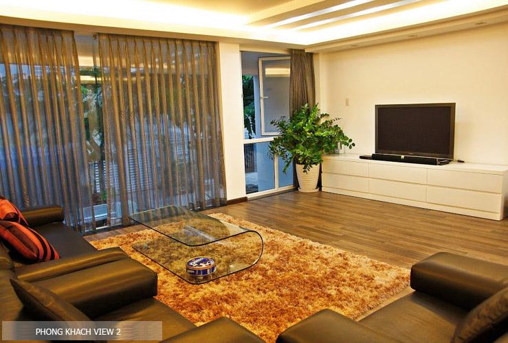 phòng khách nội thất nhà phố đẹp 80m2