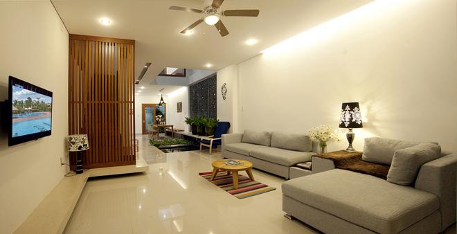 Phòng khách mẫu nội thất đẹp cho nhà phố hiện đại
