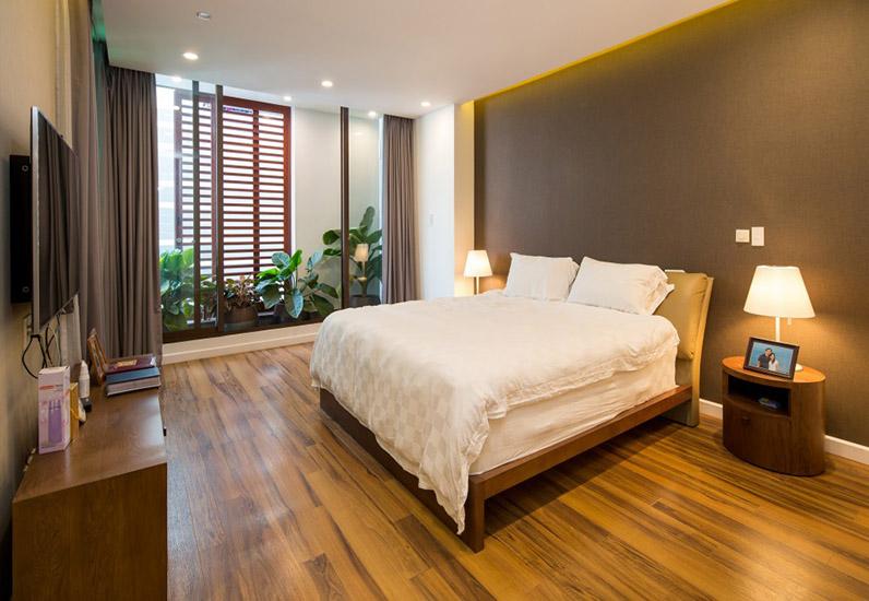 Phòng ngủ của mẫu nội thất đẹp cho nhà phố 7m