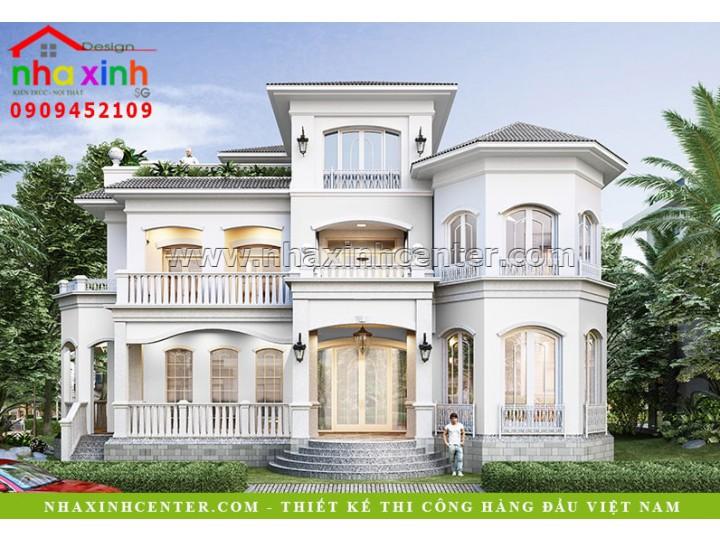 Mẫu Thiết Kế Biệt Thự Sato Phú Mỹ Hưng 5 Phòng Ngủ | BT-171