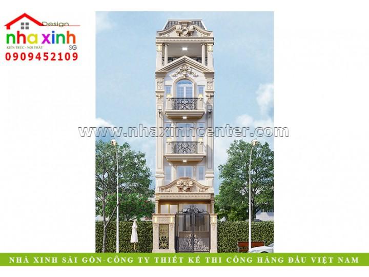 Mẫu Nhà Phố Cổ Điển 4 Tầng | Anh Sơn | Quận 12 | NP-191