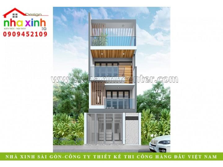 Thiết Kế Nhà Phố Đẹp   Chị Trang   NP-124