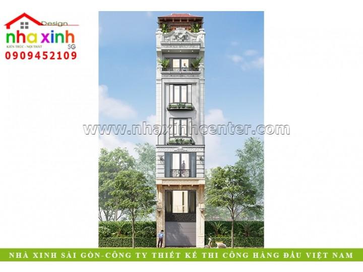 Nhà Phố Tân Cổ Điển 5 Tầng   Anh Quảng   Hà Nội   NP-211