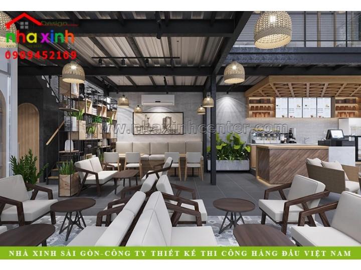 Thiết Kế Nội Thất Quán Cafe Đẹp   Chị Hương   Bình Thạnh   NT-228