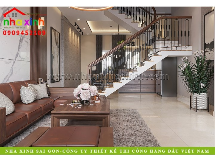 Thiết Kế Nội Thất Nhà Phố Cityland   Chị Dung   Gò Vấp   NT-203